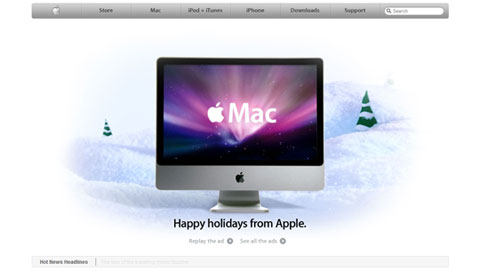 picture of the apple home page