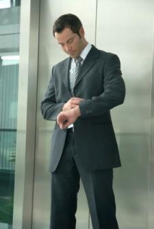 Business Man Elevator Pitch