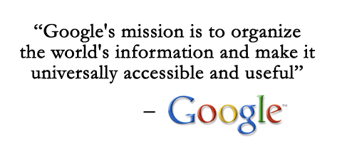 google's user focused mission
