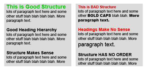 semantic content structure