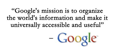 google's user focused mission